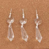 kronleuchter glas kristalle teile großhandel-30 teile / los Große Klar Kronleuchter Glas Kristalle Lampe Prismen Teile Hängen Tropfen Anhänger Schmuck Erkenntnisse Komponenten