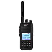 icom cable de programación usb al por mayor-TYT MD - 380 VHF Walkie Talkie portátil Transceptor digital Pantalla LCD colorida Función de cifrado mejorada 2000mAh Batería