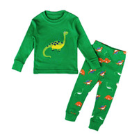 Wholesale dinosaur pyjamas - Hot Kid Pajama Set Dinosaur Boys Sleepwear Girl Pijamas 2017 New Children's pyjama T-shirt + Pants Baby Unisex Clothing Set 1-7Y