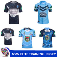 Wholesale national lights - NRL National Rugby League NSW STATE OF ORIGIN 2018 ELITE TRAINING TEE LIGHT BLUE NSW SOO 2018 JERSEY Queensland Maroons NSW RL Holden Rugby