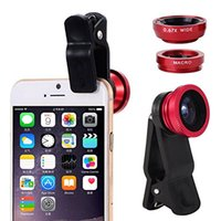 iphone 5s kamera lensleri toptan satış-Balıkgözü Lens 3 1 cep telefonu lensler balık gözü + geniş açı + makro kamera lens için iphone 7 6 s artı 5 s / 5 xiaomi huawei samsung