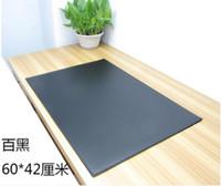 офисные коврики для мыши оптовых-60 * 42 см PU кожаный офисный стол коврик компьютерные столы Pad письменный стол коврик для мыши Коврик