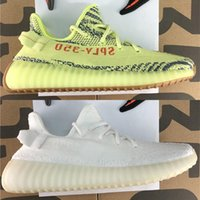 Wholesale pink fishing box - 2018 Sply 350 Boost 350 V2 Butter Semi Frozen Yellow Cream White Zebra Bred Black Red Beluga 2.0 running sheos With Box