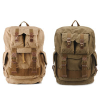 Wholesale laptop computers free - Computers Laptop Backpacks Unisex Casual Rucksack Canvas Backpack Large School Bag Travel Climbing Rucksack Free DHL G166S