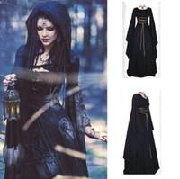 königin sterne großhandel-Unregelmäßige Kleid Halloween Cosplay Prinzessin Königin Maxi Kleider Party Kostüm Erwachsene Weibliche Maskerade Kostüm
