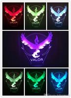 ingrosso team di illuminazione-Hot Collection Team Valor Team Mystic Team Instinct 3D LED Illusion Night Light 7 colori che cambiano led giocattoli migliori regali