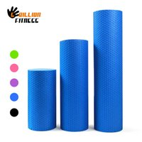 Wholesale yoga foam rollers - 60cm x 15cm Foam Roller - Gym Exercise Fitness Floating Point EVA Yoga Pilates Roller Physio Trigger Massage 30cm, 45cm Dia 15cm