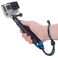 monopod uzantıları toptan satış-YENI Su Geçirmez El Grip için Ayarlanabilir Uzatma Özçekim Sopa El Monopod GoPro Eylem Kamera Yüksek Kalite