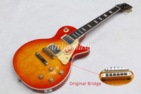 Wholesale Guitar Reissue - Arvinmusic custom shop 1958 Reissue electric guitar,Aged Vintage Cherry Sunburst guitar,Original little eye bridge,Free shipping