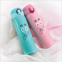 Wholesale country cartoons - Stainless Steel Cup Practical Removable Lid Water Bottles Safe Anti Scald Car Kettles For Students And Office Workers 15 68ym B