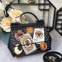 лимонные сумочки оптовых-Сицилийский лимон банан лист цветной печати Рим империи плеча сумка печати кожаная сумка