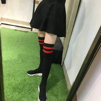 Wholesale Long Sneakers - Luxury Brand Long Tube Socks Shoes Speed Trainer Fashion Women Casual Shoes Black White Red Comfortable Boots Sport Sneakers Size 36-40