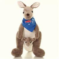 Wholesale kangaroo plush - New style plush toy mother and son kangaroo creative parent-child gift Christmas gift pure plush material size 35cm 50cm 75cm