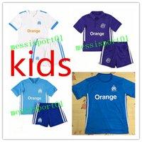 Wholesale Foot Boy - Olympique de Marseille kids kit Soccer Jersey 17 18 om Batshuayi Gignac Maillot de Foot Payet Lass 2017 2018 Home Shirt free shipping
