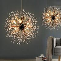 Wholesale hanging vintage chandelier light online - vintage lights retro loft spark fireworks Acrylic LED Pendant Light Dining Living Room Kitchen Light Hanging Lamps