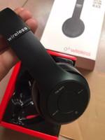 tf гарнитура оптовых-Беспроводные Наушники Bluetooth Стерео Гарнитуры Наушники Поддержка TF Карта Для iPhone Samsung 1 шт. Заводская Цена