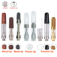 Wholesale ego mouth tips - Hot Clear tip Ceramic Cartridge 510 Atomizer Thick oil Vaporizer .5ml 1ml for ego Battery wax wood Gold mouth Vaporizer pen tank