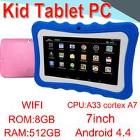 tabletten zoll großhandel-7 Zoll Tablette PC A33 Viererkabel-Kern Allwinner LED Android 4.4 Mikro-Sd 512MB RAM 8GB ROM WIFI Doppelkamera WIFI3G ECPB-5 Einzelverkauf