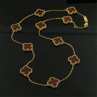 красные агатовые подвески оптовых-Прекрасный природный красный агат цепи ожерелье женщины белый агат черный оникс цветок кулон ожерелья роскошные 316L титана стали позолоченные ожерелье