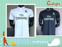 Wholesale cross club - Top quality 18 19 Real Madrid Football Club Ronaldo Domodicz Cross Sergio Ramos Bale 2018 2019 ASENSIO ISCO Short Sleeve Shirt