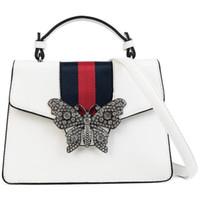 ingrosso farfalla ha ispirato la moda-Borsa a tracolla moda femminile Famous Designer ispirato elegante borsa a tracolla farfalla casual spalla donna borsa perla