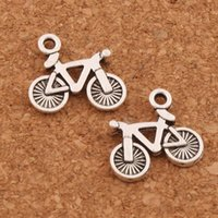 Wholesale circles earrings diy resale online - 300pcs Bike Bicycle Charm Beads x13 mm Tibetan Silver Pendants Jewelry DIY Fit Bracelets Necklace Earrings L506