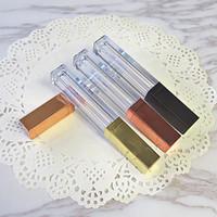 ingrosso fondamento lucido lucido-Hot Square Clear 4ml Oro rosa Bronzo vuoto Campione Lip Gloss Tubi Trucco Viso Eyeliner Batom Fondotinta 20pcs