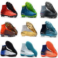 7b4311f1097 Kids Mercurial Superfly CR7 V AG FG Football Boots Ronaldo High Ankle  Magista Obra II ACC Soccer Shoes Neymar JR Children s Soccer Cleats