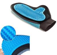 Wholesale massage hair gloves resale online - 23 x18cm in1 Pet Grooming Gloves Tool Furniture Pet Hair Remover Mitt Gentle Deshedding Brush Rubber Tips for Massage Foe Dog Cat