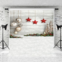 Wholesale christmas backdrops resale online - Dream x7ft Christmas Wood Backdrop for Children Photography Grey Wooden Background Decoration White Snowflake Floor Background Prop Studio