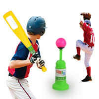 Wholesale Baseball Games Toys - Children's Baseball Practice Pop Up Batting Practice Auto-Bounce Baseball Toy Fun Family Outdoor Game Toys