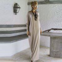 Wholesale oversize black dress - Womens Maxi Long Dress Black Gray Long Sleeve Casual Sexy Fall Full Sleeve Loose Wrap Oversize Irregular Elegant Party Dresses vestidos