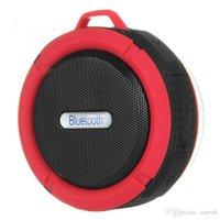 micrófono al aire libre al por mayor-C6 Altavoz Al aire libre Altavoz deportivo Ducha Portátil Impermeable Inalámbrico Bluetooth Altavoces Ventosa Manos libres MIC Caja de voz Batería fuerte
