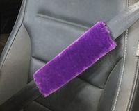faux pelzart großhandel-Weiche Faux Schaffell-Pelz-Auto-Sicherheitsgurt-Schulter-Auflagen-Abdeckung Winter-flaumiges Geschirr-Streifen-Auto-Styling