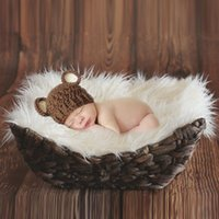 Wholesale gray photography - Colorful Newborn Baby Blanket New Cute Infant Kinderen Baby Photography Props Accessories Peuter Pasgeboren Harige Soft Comfortable Blanket