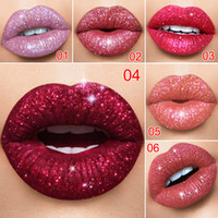 Wholesale nude pink lip color resale online - Cmaadu Color Shiny Waterproof Shimmer Liquid Lip Tint Lipstick Long Lasting Women Sexy Nude Pink Red Glitter Lip Gloss Makeup
