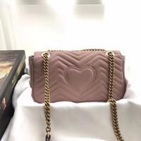 en iyi deri toptan satış-Sıcak Gerçek Hakiki Deri marmont çanta bayan çanta çanta omuz çantalar tarih kodu ile en iyi hediye çantası