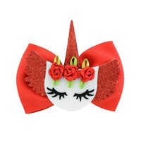 ingrosso gli occhi dell'arco-New Lovely Eyes Bowknot Hairgrips Boutique Ribbon Bowknot Funny Monster Doll Face Clip di capelli Poliestere Rose Flower Bow Girl Forcine 876