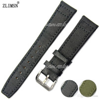 relógios sem bandas à venda venda por atacado-Faixa de Relógio de couro de Nylon preto 20mm 21mm 22mm NOVO HQ Strap Belt sem logotipo fivela VENDA QUENTE