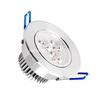 plafón led blanco al por mayor-CREE LED Downlights 3W Dimmable LED Empotrable Lámpara de techo AC85-265V Blanco / Cálido LED abajo Lámpara de aluminio Aluminio
