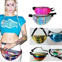 Wholesale black toy chest for sale - Group buy For Phone Laser Hologram Clear Bag Fanny Pack Waist Bags Harajuku Style Transparent PVC Cash Pouch Sports Messenger Chest Bags New Style