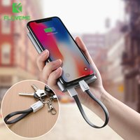 Wholesale keychain micro usb data - Mini KeyChain For iPhone Micro USB Cable   For Lightning Charger Cable Portable Charging Sync Data Cord USB Accessory