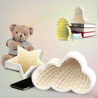neuheit führte kind lampe großhandel-Neue 3D Kreative Wolke Sterne Nette Herz Nachtlicht Led Decor Lampe Neuheit Spiegel Für Kinder Baby Gute Geschenk Dekoration