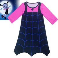 Wholesale long sleeve woman costumes for sale - Vampirina girls dresses years old baby girls long sleeves dress Vampirinas Cosplay Costumes Dress kids clothing MMA383