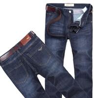 berühmte marke italien jeans großhandel-neue Jeans Marke Jeans Herren Denim Hosen eine Art und Weise Baumwolljeans mani Hosen männliche calca Männer berühmte Marke klassische Denim Jeans