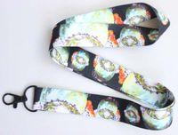 llaveros móviles nuevos al por mayor-Envío gratis Nuevo diseño 10 unids Cartoon Earth Star Straps Lanyard ID Badge Holders Mobile Neck Keychains para el regalo del partido # 123