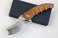 grand edc achat en gros de-Nouveau grand couteau pliant D2 lame acier poignée camping en plein air couteaux tactiques EDC outil pour homme livraison gratuite