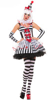 vestido longo e sexy do corpo preto venda por atacado-New Super Palhaço de Luxo Palhaço de Circo Horror Halloween Fantasias de Alta qualidade Cosplay Fantasia Vestido Adulto Mulheres sexy