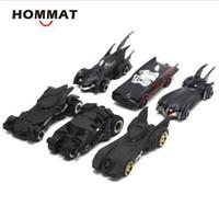 modelos de batman al por mayor-HOMMAT Simulación 1:64 Hot Wheels Conjunto de 6 Batman Batmobile vehículo de aleación Diecast Toy Car Model Cars Juguetes para niños Niños
