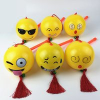 Wholesale lanterns for birthday party - Emoji Smiling Face Portable Lantern Funny Cartoon For Children's Day Gift Kids Toys Plastic Lanterns NNA73